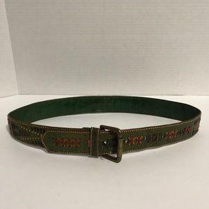 Accessories - WOVEN LEATHER SOUTHWESTERN BELT